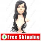 Synthetic Bob Styling Long Wavy Curly Wig - Swept Bangs Hairpiece