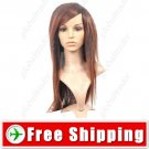 Synthetic Shaggy Roots Cornrow Straight Long Wig Hairpiece