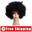 Synthetic Black Funky Unisex Short Costume Cosplay Wig Hairpiece