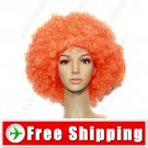 Synthetic Orange Funky Unisex Short Costume Cosplay Wig Hairpiece