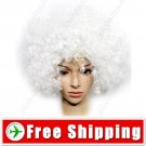 Synthetic White Funky Unisex Costume Cosplay Wig Hairpiece