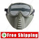 Facepiece Metal-Net Rubber Anti BB Bomb Face Mask for Army