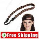 Synthetic Fiber Wig Braid Hair Hoop False Plait Hairpiece