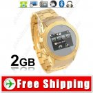 2-SIM 2GB Unlocked Watch Mobile Cell Phone - Bluetooth Camera FM