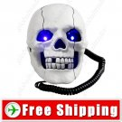 New White Skull Shape Phone Telephone FREE SHIPPING