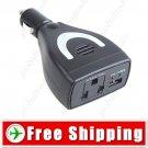 DC 12V to AC 220V+ USB 5V 75W Car Power Converter inverter