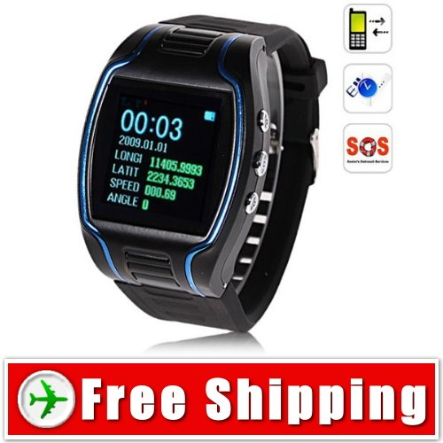 GPS - GSM - GPRS Watch Tracker SOS Function Free Shipping