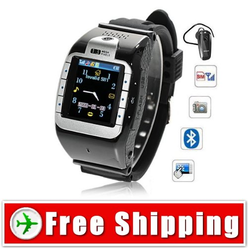 NEW Quad Band Watch Phone Bluetooth Touch Screen FREE Shipping