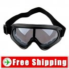 Ski Sports Glasses Goggles Black Lens Black Frame FREE Shipping