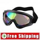 Fashion Ski Sports Glasses Goggles Coated Lens Black FREE Shipping