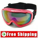 New Snowboard Ski Goggles Anti-Fog Dual Lens Red Frame FREE Shipping