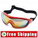 Snowboard Ski Goggles Anti-Fog Anti-Scratch Red Frame FREE Shipping