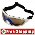 New Snowboard Ski Goggles Anti-Fog Anti-Scratch White FREE Shipping