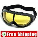 Ski Snowboard Goggles Anti-Fog Anti-Scratch Black FREE Shipping