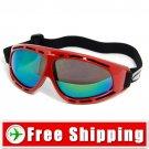 Sport Ski Snowboard Goggles Anti-Fog Anti-Scratch Red FREE Shipping