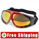 Ski Snowboard Goggles Anti-Fog Anti-Scratch Black&Red FREE Shipping