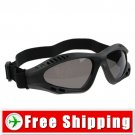 Tactical goggles Protect Eyes Black Frame Gray Lens FREE Shipping