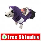 Dog Pullover Style Dress Clothes with Hoodie Purple FREE Shipping