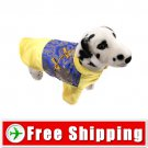 Tang Suit Style Dress Yellow & Blue Colors for Dog Pet FREE Shipping