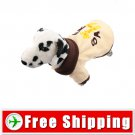 Button Closure Style Coat Yellow Colors for Dog Pet FREE Shipping