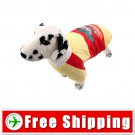 Cotton-padded Jacket Clothes Yellow for Dog Pet FREE Shipping