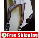 Pantyhose Leggings Metallic Thread Stripe Style Black FREE Shipping