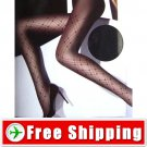 Lady Sexy Sheer Tights Plaid Pantyhose 20D Black Color FREE Shipping