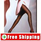 Sexy Sheer Tights Plaid Pantyhose 30D Black Color FREE Shipping