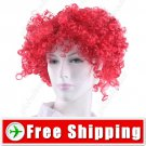 Synthetic Reddish Brown Funky Unisex Short Clown Wig FREE SHIPPING