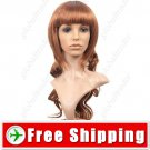 Synthetic Natural Long Wavy Wig with Full Bang Hairpiece FREE SHIPPING