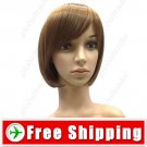 BOB Short Hair with Thick Tilted Wig Hairpiece FREE SHIPPING
