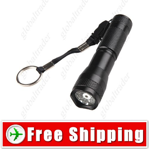 2-in-1 7-LED Torch Flashlight Light with Red Laser FREE SHIPPING