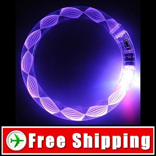 Acrylic Red & Blue LED Flashing Bracelet for Party Disco FREE SHIPPING