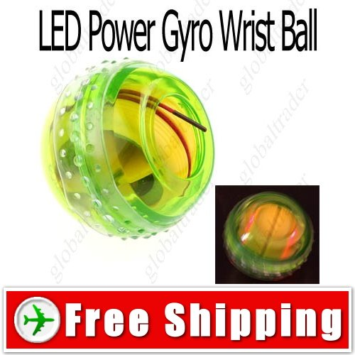 4 LED Flashlight Power Massage Gyro Wrist Exercise Ball FREE SHIPPING