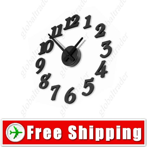 Home DIY Novelty Wall Clock with Sponge Hour Markers FREE SHIPPING
