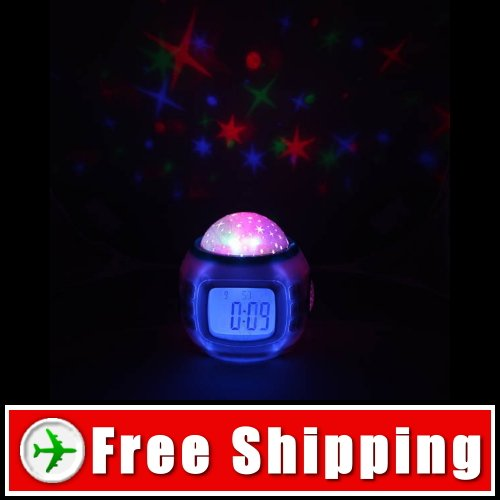 Starry Projection & Canoro Rhythm Play LED Alarm Clock FREE SHIPPING