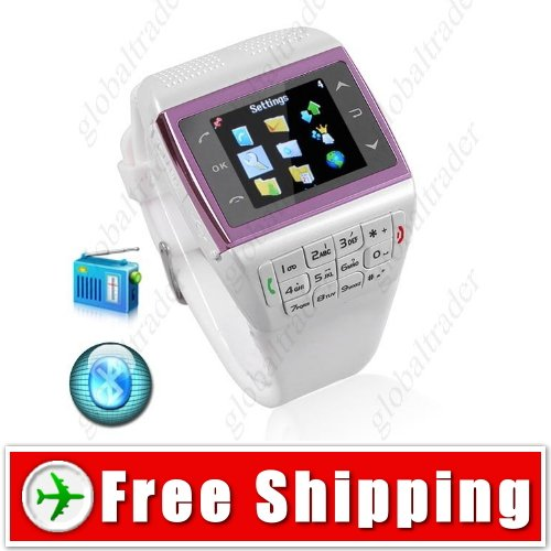 1.3 inch Unlocked Watch Cell Mobile Phone - Bluetooth FM Compass MP3
