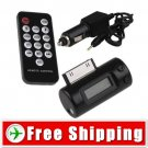 Wiredless FM Transmitter Car Charger for iPhone 3G 3GS FREE SHIPPING
