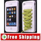 Sporty White Shoe Silicone Skin Case for iPhone 4G FREE SHIPPING