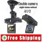 2 inch 2 Camera Automobile Drive Recorder DVR Car Video Recorder