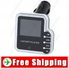 1.5 inch LCD MP3 Player FM Transmitter for Car Audio - Gray