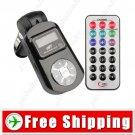 Car MP3 Player - Wireless FM Transmitter USB Jack SD MMC Slot