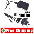 10000mAh Portable Power Battery Pack for Nintendo 3DS DS PSP iPhone