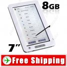 7inch E-Book Reader Media Player PDF Reader 8GB - Voice Recorder