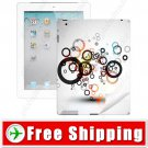 Protective Colored Skin Sticker Paster Back Cover for Apple iPad 2