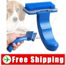 Plastic Dog Grooming Hair Brush Self-Cleaning Pet Comb Small