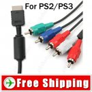6 Feet Premium 5-in-1 Component AV Audio & Video Cable for PS2 PS3