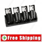4-in-1 Charging Station Dock 4 Rechargeable Battery for Nintendo Wii