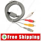 New Composite S-Video & RCA AV Cord Cable for Nintendo Wii Console