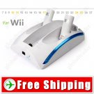All-in-One Power Dock Station - 2 Battery Pack for Nintendo Wii